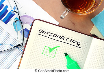 Notepad with word outsourcing - Notepad with word...