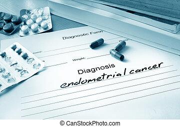 cáncer,  endometrial, diagnóstico