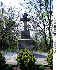 Cross Stone - Cross stone dead Cossacks to defend the city...