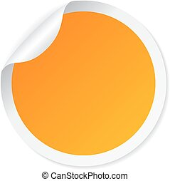 Yellow round sticker - Yellow blank round sticker