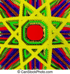 Abstract background with eight-pointed star. Artwork for...