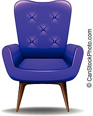 Armchair - Close up luxury design of purple armchair
