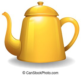 Kettle - Close up simple design of yellow kettle