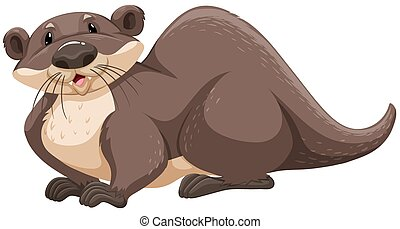 Clip Art Otter Clip Art otter illustrations and stock art 360 illustration brown sitting on white background clipartby