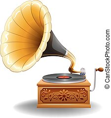 Gramophone - Vintage gramophone with recorder in luxury...
