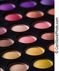 professional make-up palette, close-up