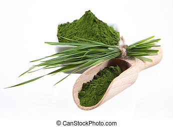detox. young barley, chlorella superfood. - Young barley and...