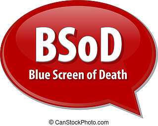 BSOD acronym definition speech bubble illustration - Speech...