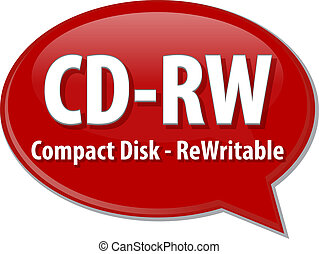 CD-RW acronym definition speech bubble illustration - Speech...
