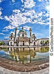 (Karlskirche) St. Charles's Church in Vienna, Austria -...