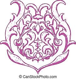 Design element - Graphic floral decorative element, vector...