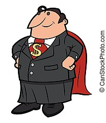 Super businessman 2 - Illustration of the businessman with...