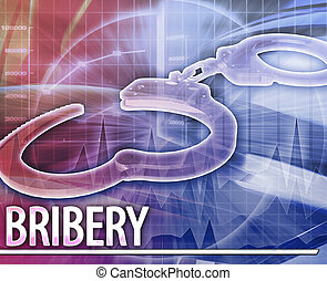Bribery Abstract concept digital illustration - Abstract...