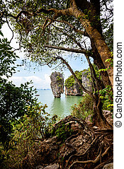 High angle view Khao Tapu island - High angle view beautiful...