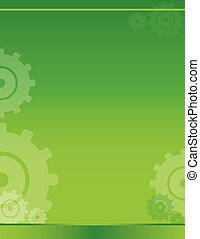 background green gears