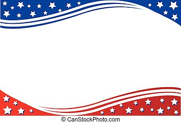 Postcard Border patriotic