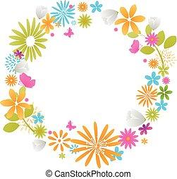 Beautiful fresh flowers - Vector Illustration of Beautiful...