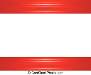 shiny red border horizontal