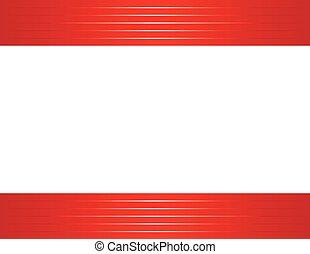 shiny red border horizontal