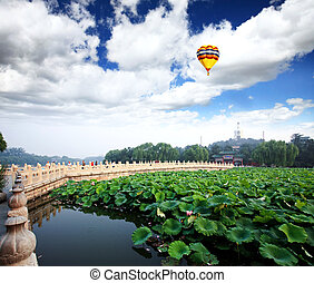 The Beihai Park near Forbidden City Beijing - The Beihai...