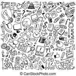 Business Consept Doodles Vector Illustration - Business...