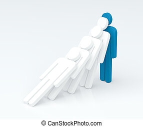 Strenght of a leader character (leadership concept) (3D...