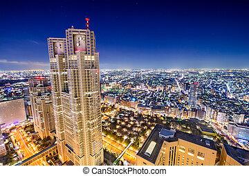 Shinjuku Cityscape - Shinjuku, Tokyo, Japan cityscape at...