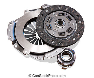 automobile clutch Isolated on white with clipping path