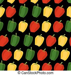 Background of sweet pepper Vector seamless pattern of...