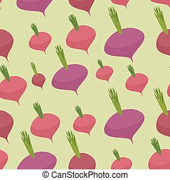 Beet pattern Seamless background with dark red beets Vector...