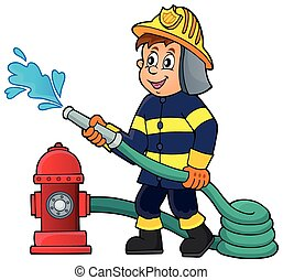 Firefighter theme image 1 - eps10 vector illustration.
