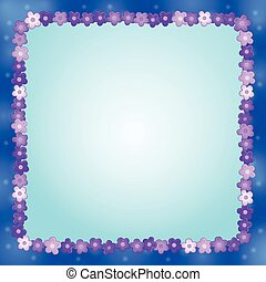 Frame with flower theme 8
