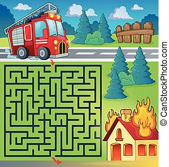 Maze 3 with fire truck theme