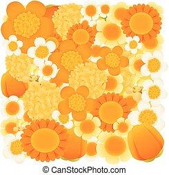 Orange , tangerine floral background - Vector file EPS10
