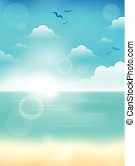 Summer theme abstract background 4