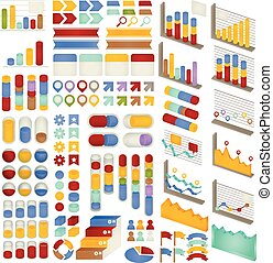 Set of Adjustable Infographics , Icon , Charts, Diagrams...