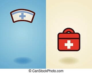 Rescue , medical , health care , support, volunteer icon in flat design style