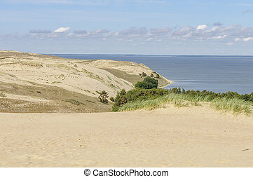 Dead dunes in Curonian Spit, Lithuania, Europe - The...