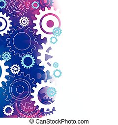 Abstract Background with Cogs - A purple & blue abstract...