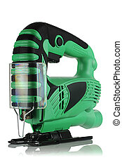jig saw - new professional jig saw on a white background.