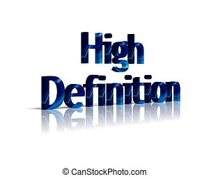 high definition 3d word