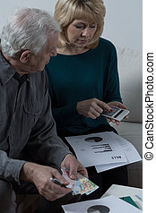 Elderly couple financial problems