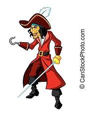 Captain Hook - Illustration of Captain Hook from children...