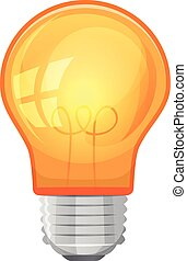 Cartoon Light Bulb - Illustration of a cartoon yellow light...