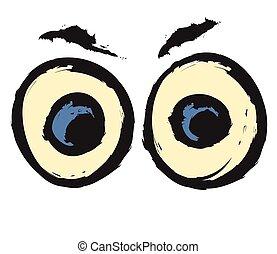 Cartoon Eyes, vector