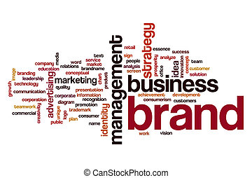 Brand word cloud concept - Brand word cloud