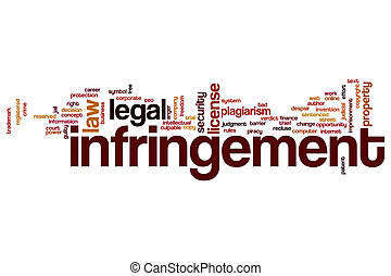 Infringement word cloud concept - Infringement word cloud