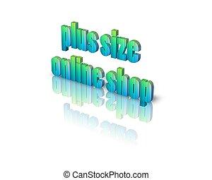 plus size online shop 3d word