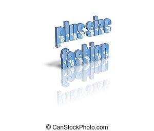 plus size fashion 3d word