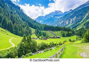 Beautiful alpine landscape, Europe - Beautiful alpine...